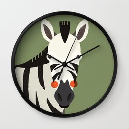 Zebra, Animal Portrait Wall Clock