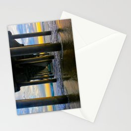 Sunset HB Pier Pilings  ~ LABOR DAY   9/2/13  Stationery Cards