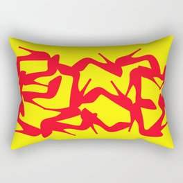 Shoe Fetish (Version 2) in Red and Yellow by Bruce Gray Rectangular Pillow