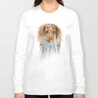 puppy Long Sleeve T-shirts featuring Puppy by Leslie Evans