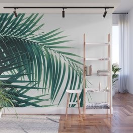Palm Leaves Green Vibes #6 #tropical #decor #art #society6 Wall Mural