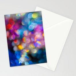 Rainbow Bokeh Stationery Cards