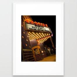 Sidewalk Cinema Framed Art Print