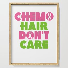 Chemo Hair, Don't Care Design Serving Tray