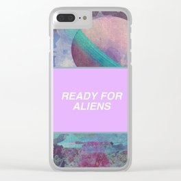 Ready For Aliens Clear iPhone Case