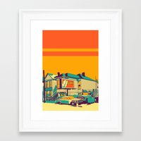 oakland Framed Art Prints featuring Oakland by peter O'Toole