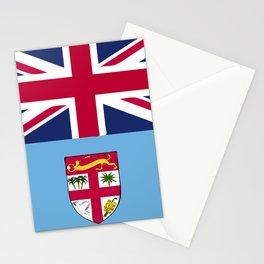 Fiji flag emblem Stationery Cards