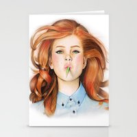 ginger Stationery Cards featuring Ginger by Sugar Doll