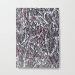 The 3D mountains Metal Print