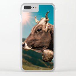 Cow Clear iPhone Case