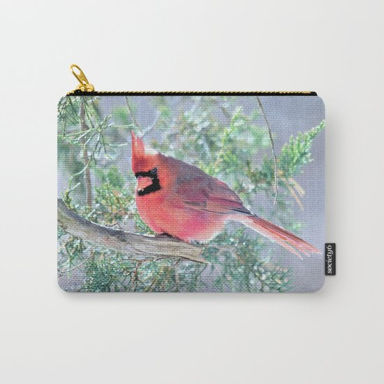 Cold Winter's Day Cardinal Carry-All Pouch