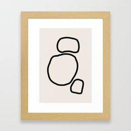 Abstract Stones Framed Art Print