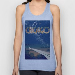 Fly to Chicago Unisex Tank Top