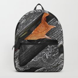 Semi-abstract, leaf on a bench photo Backpack