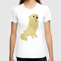 golden retriever T-shirts featuring Golden Retriever by Sarah
