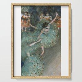 The Green Dancer - Edgar Degas Serving Tray