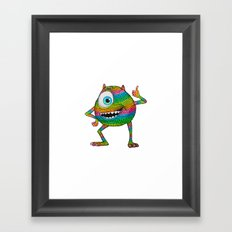 Mike Wazowski fan art by Luna Portnoi Framed Art Print