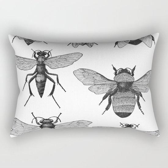 Bees and Wasp Rectangular Pillow