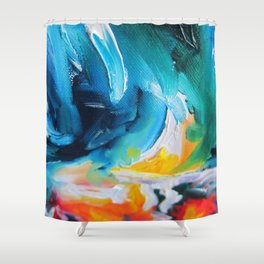 Oasis on Fire Shower Curtain