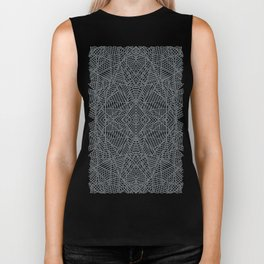 Ab Lace Black and Grey Biker Tank