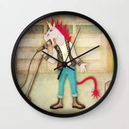 Punk Unicorn Wall Clock