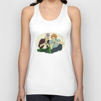 playstation Tank Tops featuring Two Killers and a Playstation by dedfox