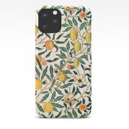Lemon tree pattern vintage William Morris print iPhone Case