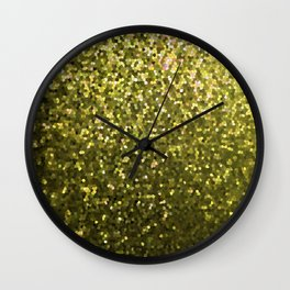 Mosaic Sparkley Texture Gold G188 Wall Clock
