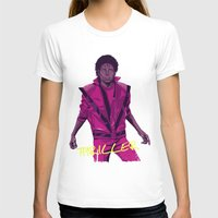 leather T-shirts featuring THRILLER - Leather jacket Version by Mike Wrobel