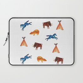 Tribal Indian Art and Teepee Pattern Laptop Sleeve