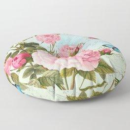 Vintage Flowers #2 Floor Pillow