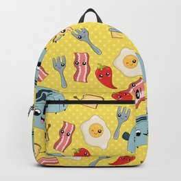 Kawaii Breakfast Pattern Backpack