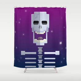 Cosmic Skull Shower Curtain