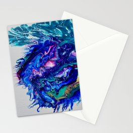 Cosmic Blue Thistle Stationery Cards