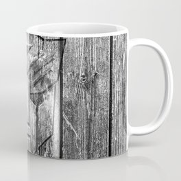 Autobot Monochrome Wood Texture Coffee Mug
