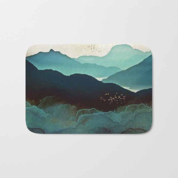 Indigo Mountains Bath Mat