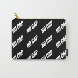 NO CAP White Minimal Pattern Carry-All Pouch