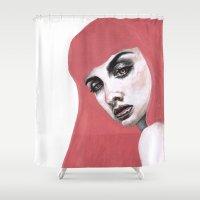 princess bubblegum Shower Curtains featuring Bonnibel Bubblegum by .Esz