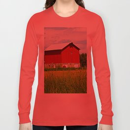 Red Barns and Field Long Sleeve T-shirt