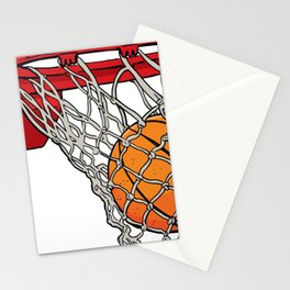 ball basket Stationery Cards