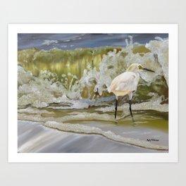 Sparkling Snowy Egret Art Print