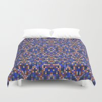 mosaic Duvet Covers featuring Mosaic by PureVintageLove