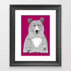This bear Framed Art Print