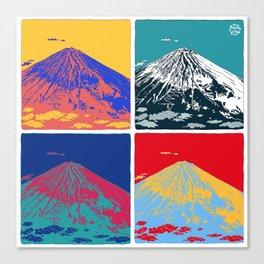 Mt. Fuji Pop Art Canvas Print