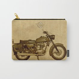 Ducati con alforjas - vintage background Carry-All Pouch