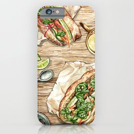 Banh Mi Lunch Spread iPhone Case