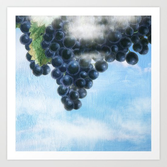 Grapes' Heaven Art Print