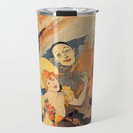 Pantomime comedy 1891 by Jules Chéret Travel Mug