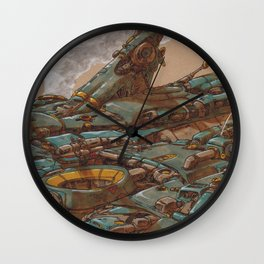 Aerial Station Two Wall Clock