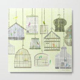 Bird cages Metal Print